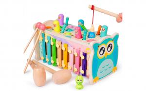 Montessori Banc cu ciocanel 4 in 1
