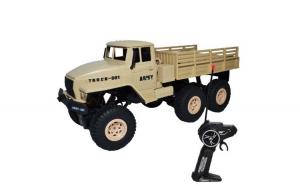 Camion militar Faruri cu RC, AC, 31x12,5x13 cm