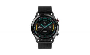 """Ceas Smartwatch TND Wear L16, Rezistent la apa IP68, Heart Rate, ECG, Oxygen Control, Pedometru, ecran 1.3"""" TFT, baterie 7 zile, 290mAH, negru"""