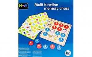 Joc de memorie si asociere din lemn