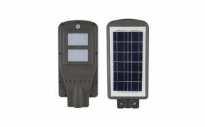 Lampa stradala cu leduri 40 w, panou solar, senzor de noapte/zi si senzor de miscare