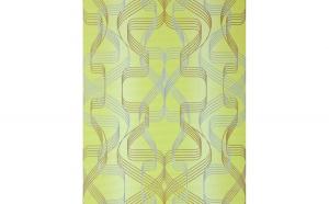 Tapet verde model abstract cu finisaj metalic evidentiat 507-21