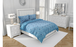Lenjerie de pat (bumbac 100%) 1 Persoana COSMIC BLUE