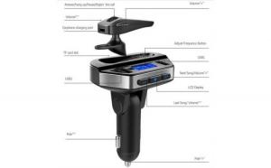 Set Modulator Fm Hands Free Car Kit + Casca Handsfree Bluetooth , USB ,  Ecran LCD, Detectare Volti Reflection Vision