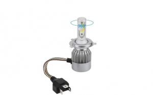Kit 2 becuri auto LED H4, Iluminare inteligenta