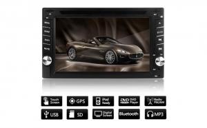 CD-DVD Player auto cu GPS, touchscreen, bluetooth, camera marsarier, control pe volan