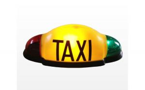 Caseta firma TAXI LED omologata DL ( - ) Electa / Pro Control / Trion, prindere cu ventuza