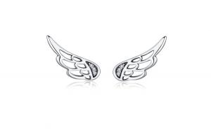 Cercei din argint 925  Feather Fairy
