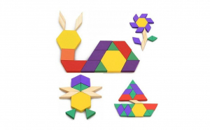 Joc educativ tangram din lemn