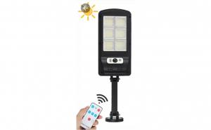 Lampa solara 30 w cu 150 de led-uri, panou solar, senzor de miscare si lumina, led-150