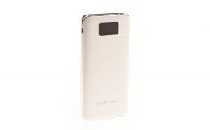 Set 2 produse - Acumulator Extern 9600 mAh, Display Digital, Lanterna LEDx2, 3 x USB, MicroUSB, ZYT-12, Alb + Suport Universal de Birou Pentru Tablete sau Telefoane