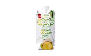 Apa de cocos cu suc de ananas, BIO 330ml