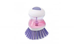 Perie pentru Spalat Vase cu Recipient pentru Detergent Lichid, Premium, Mov, Original Deals