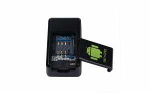 Mini dispozitiv spion GF-08 cu GPS locator,GPS in timp real SMS/ GSM/GPRS,Foto MMS, Video MMS si  Dispozitiv de ascultare in timp  real cu activare vocala