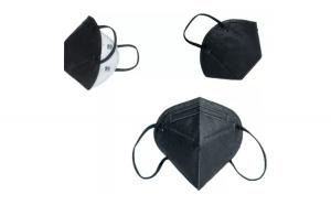 Set 10 bucati masti faciale de protectie KN95, negre