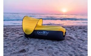 Canapea - saltea gonflabila cu umbrar, ideala pentru iesirile in aer liber