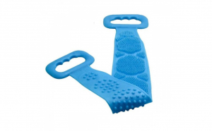 Pachet baie: Perie de corp, pentru dus + Burete de baie din silicon, cu rezervor