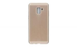 Husa Huawei P20 Flippy Ultra Slim cu aerisire Roz-Auriu
