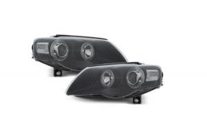 Set 2 faruri compatibil cu VW Passat 3C 2005+ Pozitie Angeleyes, negru