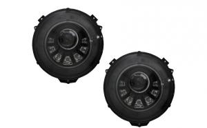 Set 2 faruri Bi-Xenon LED compatibil cu Mercedes W463 G-Class (2005-2017) M-look cu semnal secvential dinamic