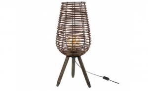 Lampa decorativa din lemn, pentru podea, 3 picioare 24x59 cm