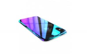 Husa Samsung Galaxy A8 2018 Flippy Electroplating Albastru