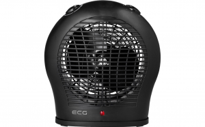 Aeroterma ECG TV 30 culoare neagra, 2000 W, 2 trepte de aer cald + aer rece, termostat Black Friday Romania 2017