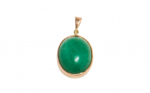 Pandantiv din aur galben 9K cu jadeit c