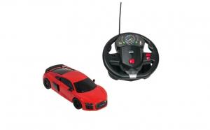 Masinuta Audi R8, cu telecomanda, tip volan