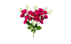 Flori artificiale, pentru vaza, rosu, 40