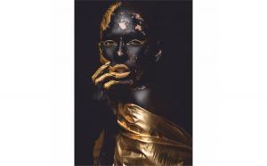 Tablou Canvas Golden Seduction, 50 x 70 cm, 100% Poliester