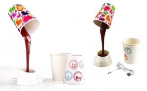 Lampa Coffee Cup cu 8 LED, 3 abajururi incluse, functionare prin baterii sau cablu USB, la 69 RON DE LA 139 RON, Vezi Video