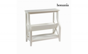 Stojan na   asopisy Alb (92 x 38 x 86 cm)   Serious Line Colectare by Homania