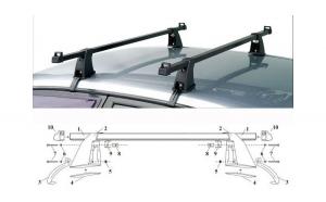 Kit / Set bare transversale portbagaj DACIA Super Nova - OTEL