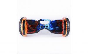 Scooter electric 10 inch, boxe, bluetooth, lumini pe aripi si roti, albastru portocaliu