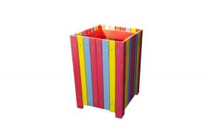 Cos Helene pentru gunoi capacitate 85 L din pvc multicolor