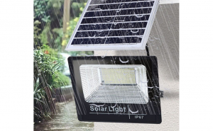 Proiector solar putere 80 W, cu panou solar si telecomanda