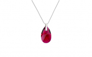 Colier Pear Ruby