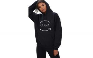 Hanorac dama negru - Karma