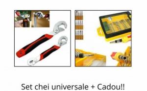 Set chei universale + Cadou set surubelnita 32 in 1