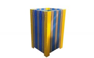 Cos pentru gunoi 60 L din pvc multicolor
