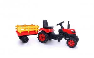 Tractor Cu Pedale Si Remorca Copii