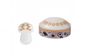 Lampa de veghe pentru copii si bebelusi, cu sunete si variatii de culori, control telecomanda, Tumama  , alb