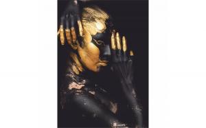Tablou Canvas Golden Posture, 40 x 60 cm, 100% Bumbac