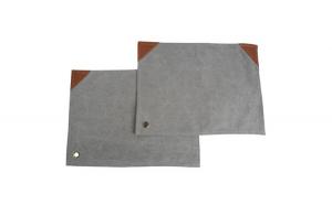 Set 2 naproane textil/piele, Gusta,