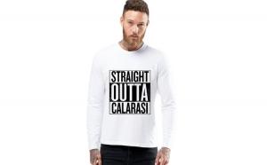 Bluza barbati alba - Straight Outta Calarasi