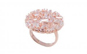 Inel din argint, placat cu rodiu roz