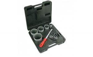 Freza tungstenrs, 32-83 mm, 5 pcs set + file, Verto 60H900