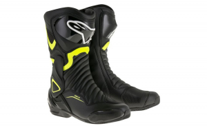 Ghete piele sport SMX 6 V2 ALPINESTARS culoare negru fluorescent galben  marime 42
