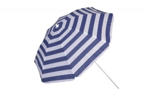 Umbrela de plaja Grunberg, diametru 180 cm, rotunda, rosu/albastru/verde